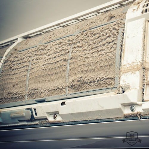 A Dirty Air Filter Affects Air Quality.