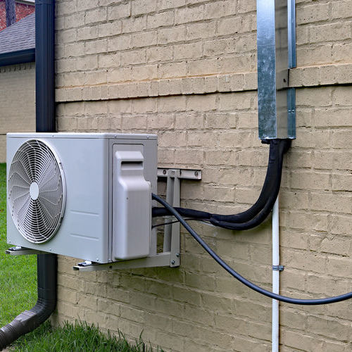 Outdoor Unit of Ductless Air Conditioner.