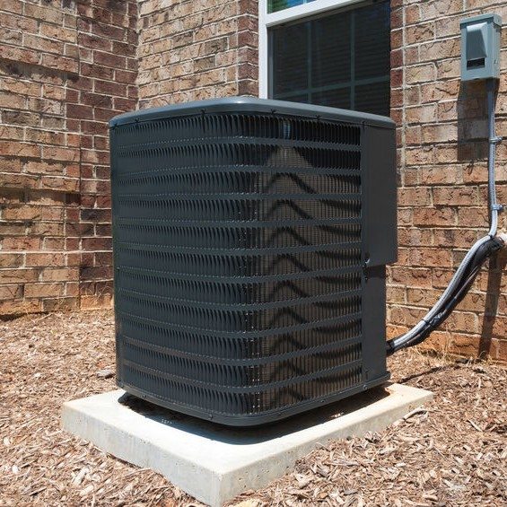 System in need of maintenance at a brick home