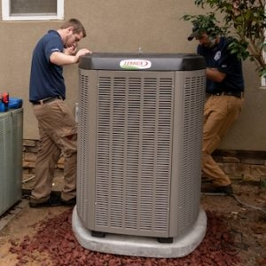 Installing a Lennox air conditioner
